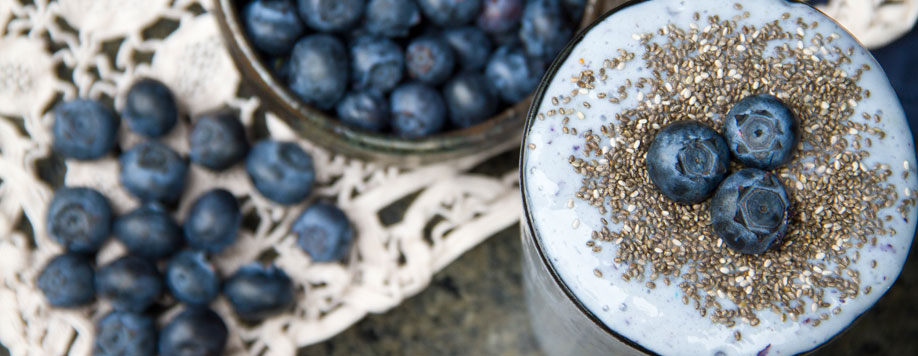 Blueberries & Cream Protein Shake