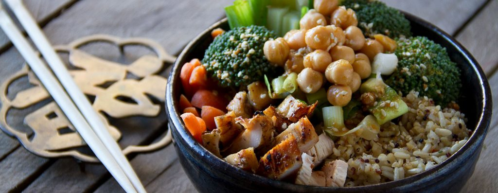 Grilled Chicken Buddha Bowl