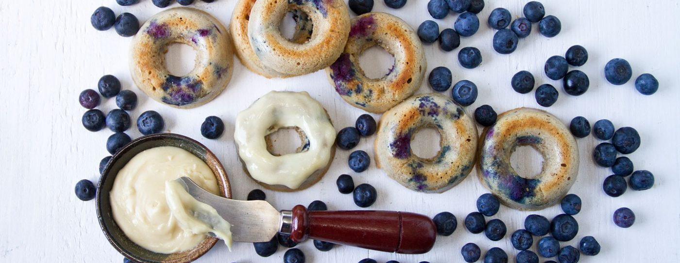Blueberry Protein Donuts