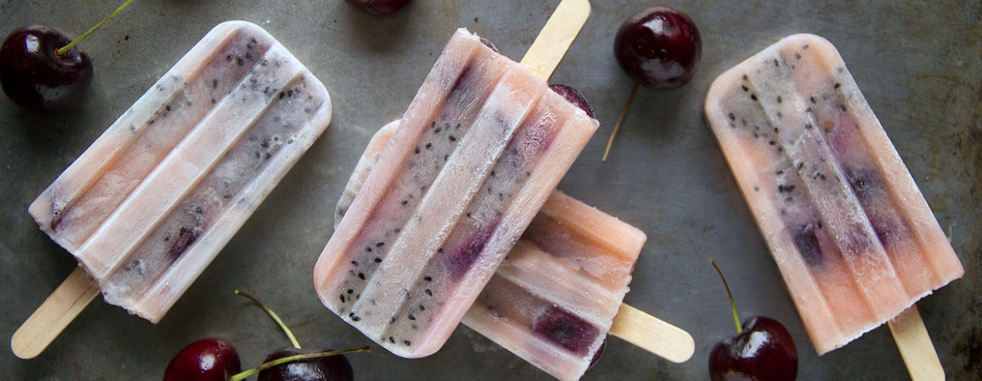 Cherry Dragonfruit Popsicles